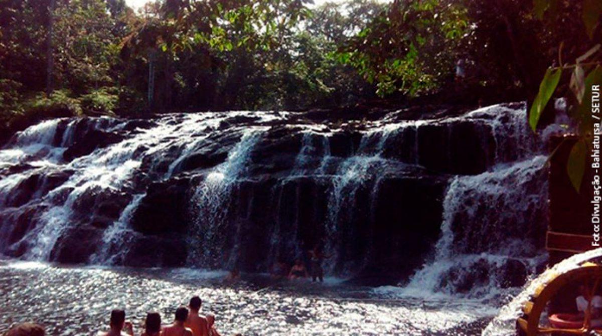 Praia de Pé de Serra com Cachoeira do Tijuípe (desde Itacaré)