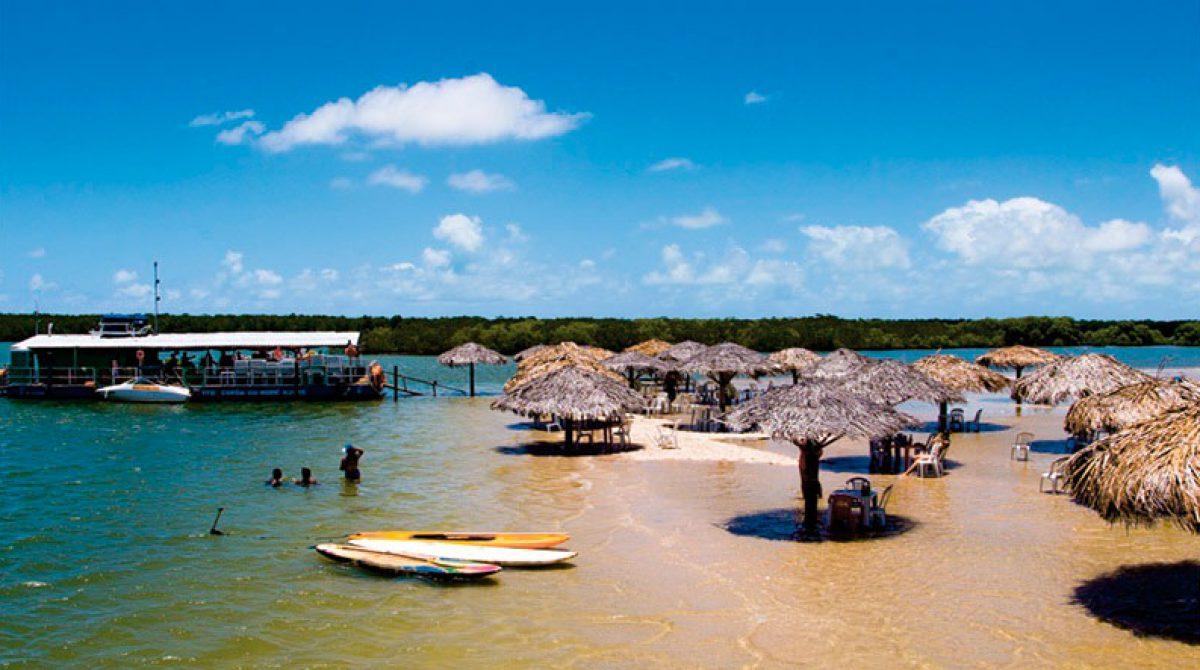 Croa do Goré com Ilha dos Namorados (saídas de Aracaju)